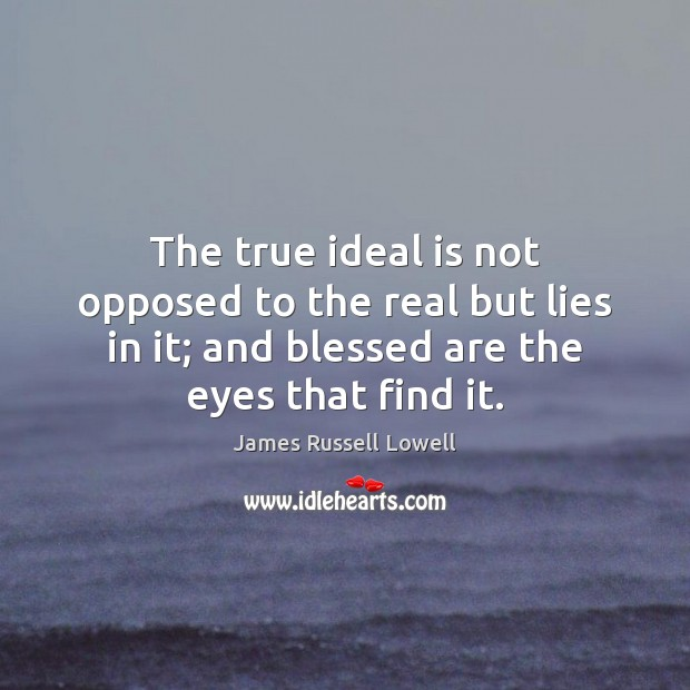 The true ideal is not opposed to the real but lies in Image