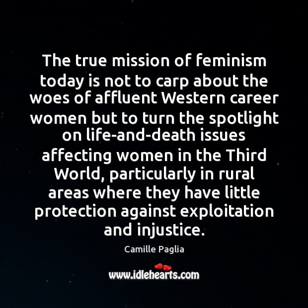 Image, The true mission of feminism today is not to carp about the