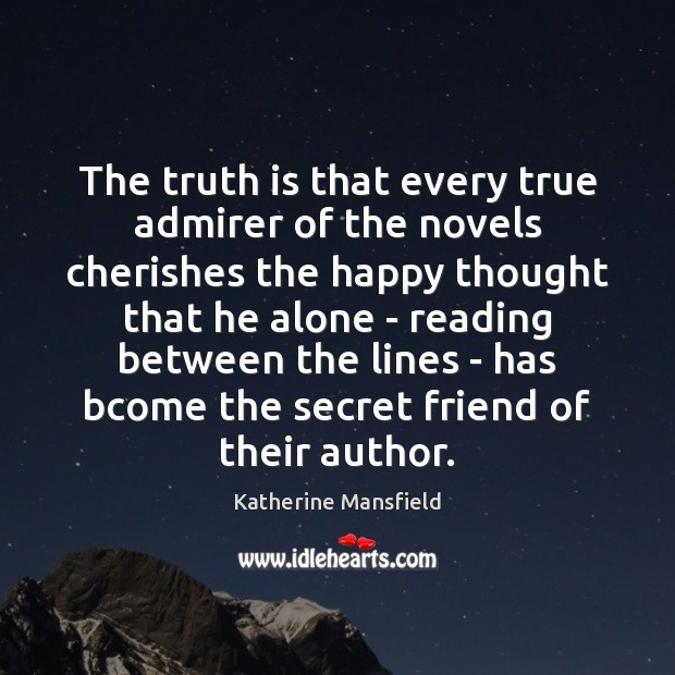 The truth is that every true admirer of the novels cherishes the Image