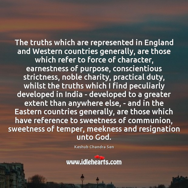 The truths which are represented in England and Western countries generally, are Image