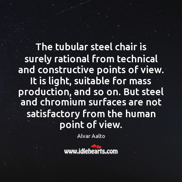 Image, The tubular steel chair is surely rational from technical and constructive points