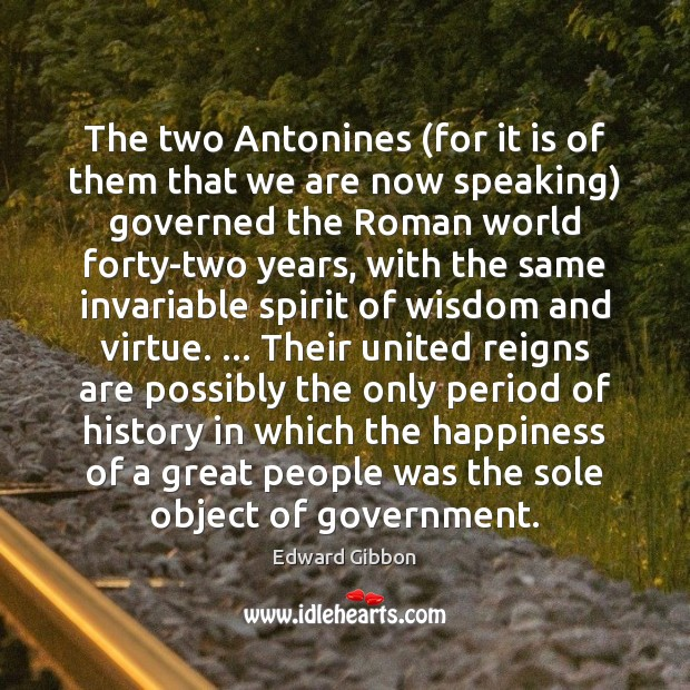 The two Antonines (for it is of them that we are now Image