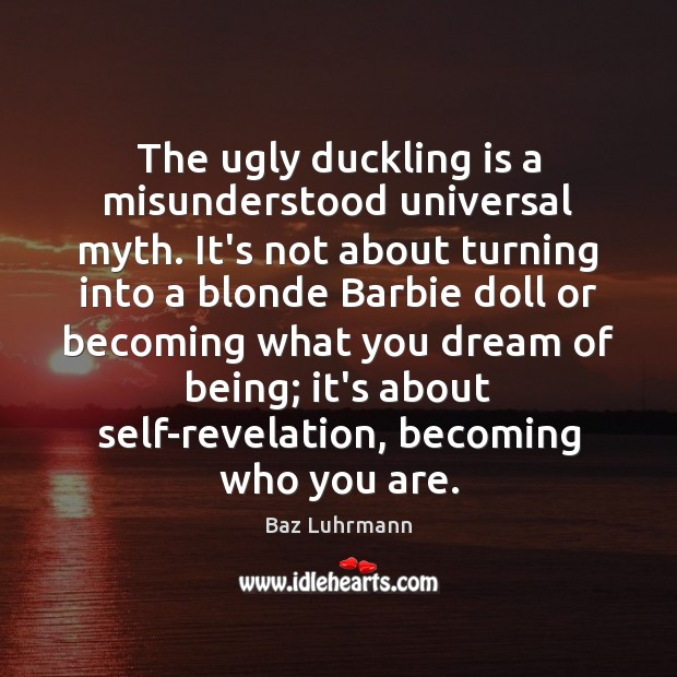 Image, The ugly duckling is a misunderstood universal myth. It's not about turning
