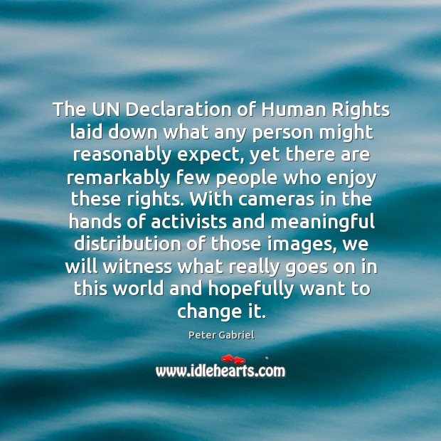 The UN Declaration of Human Rights laid down what any person might Image
