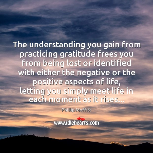 Image, The understanding you gain from practicing gratitude frees you from being lost
