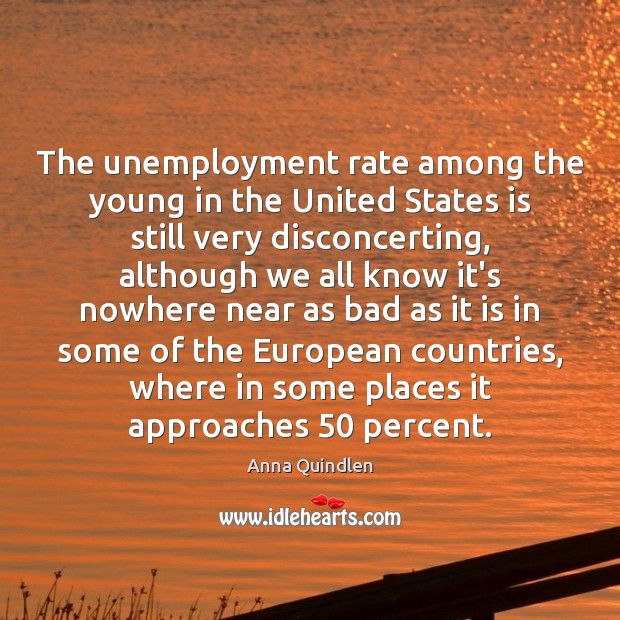 Image, The unemployment rate among the young in the United States is still