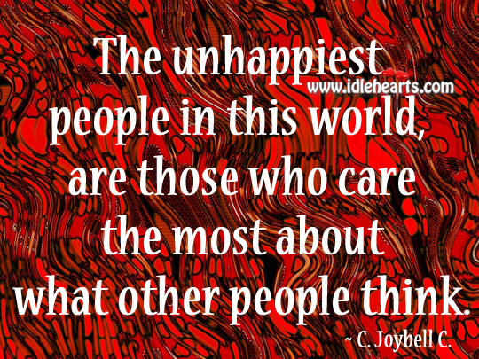 Image, The unhappiest people in this world