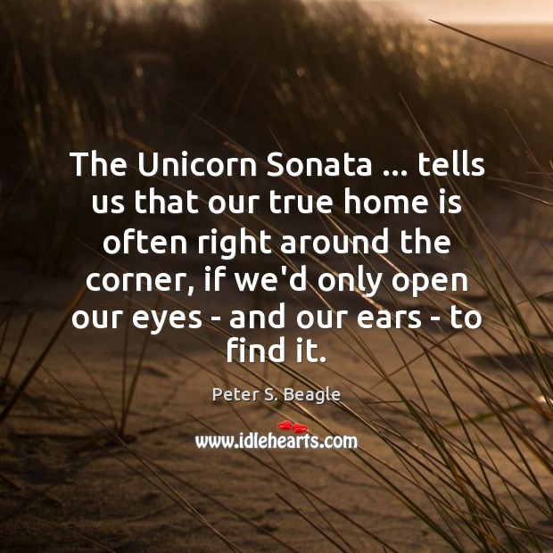 The Unicorn Sonata … tells us that our true home is often right Image