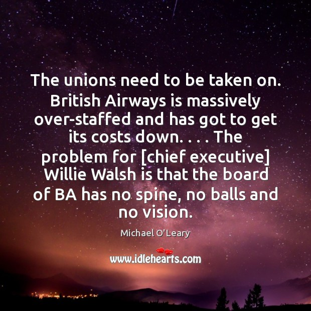 Image, The unions need to be taken on. British Airways is massively over-staffed
