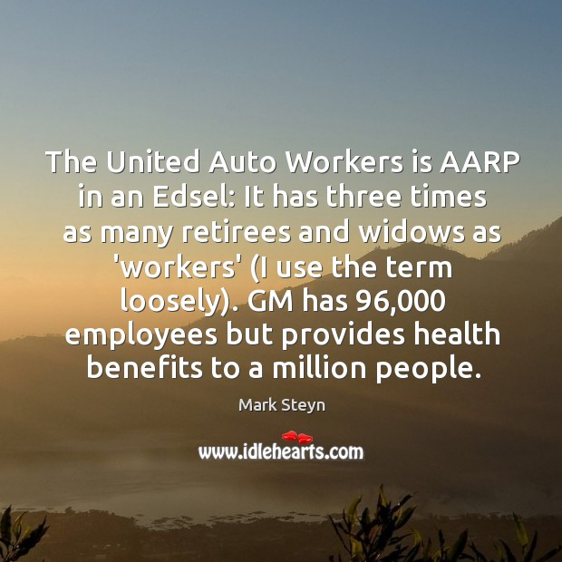 The United Auto Workers is AARP in an Edsel: It has three Image