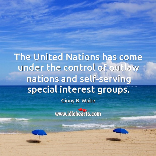 Image, The united nations has come under the control of outlaw nations and self-serving special interest groups.