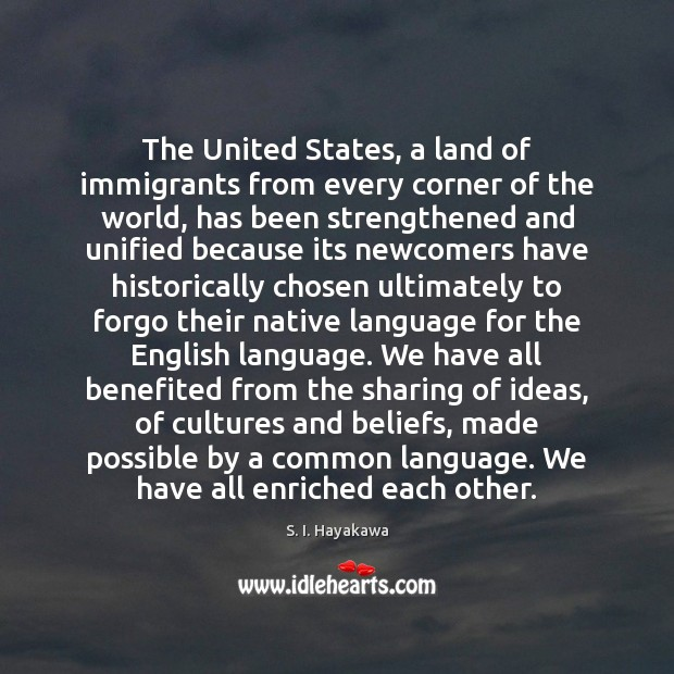 Image, The United States, a land of immigrants from every corner of the