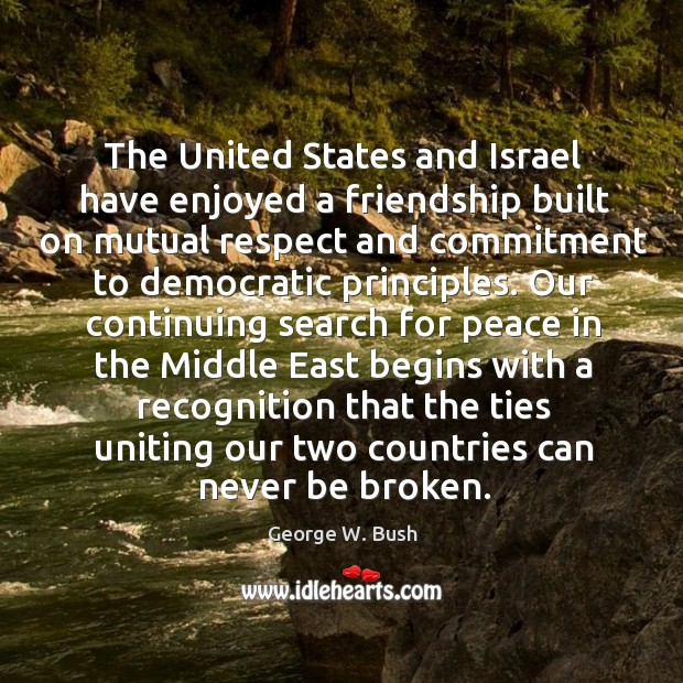 Image, The United States and Israel have enjoyed a friendship built on mutual