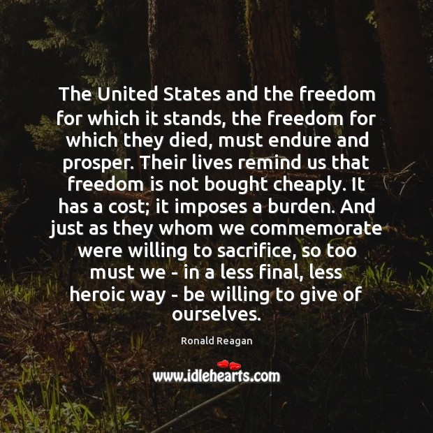 Image, The United States and the freedom for which it stands, the freedom