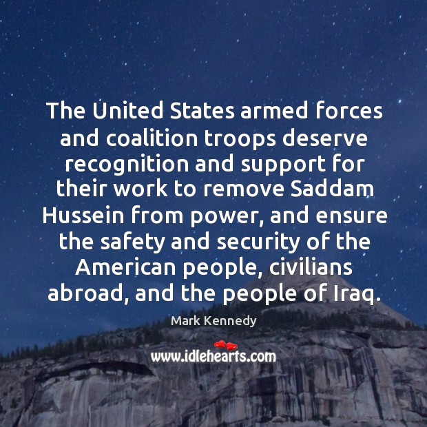 Image, The united states armed forces and coalition troops deserve