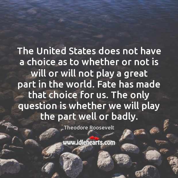 Image, The United States does not have a choice as to whether or