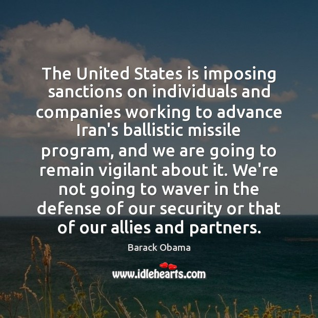 Image, The United States is imposing sanctions on individuals and companies working to