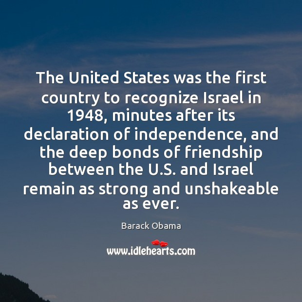 Image, The United States Was The First Country To Recognize Israel In 1948,  Minutes