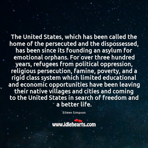 Image, The United States, which has been called the home of the persecuted