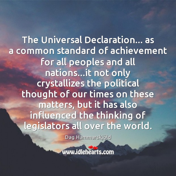 The Universal Declaration… as a common standard of achievement for all peoples Image