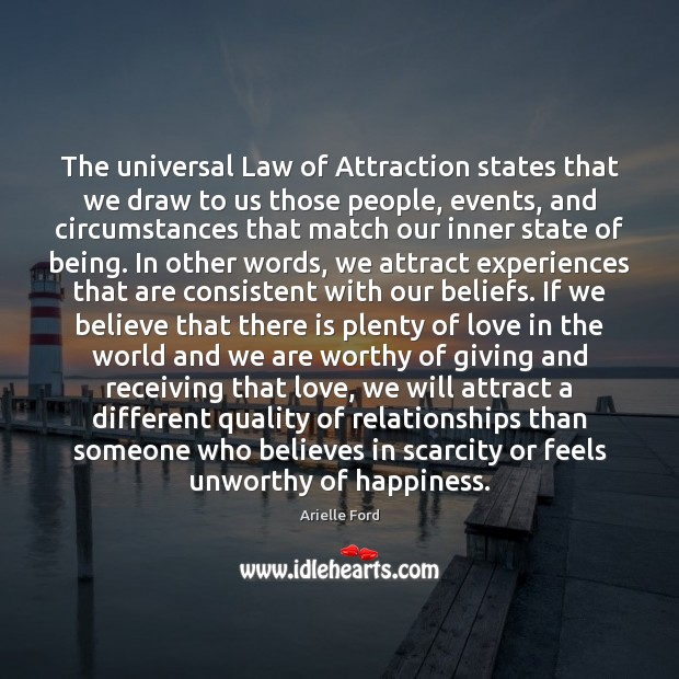 Image, The universal Law of Attraction states that we draw to us those