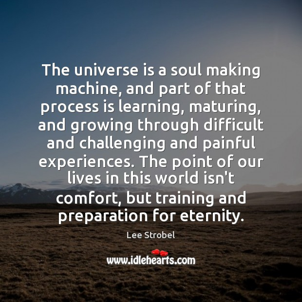Image, The universe is a soul making machine, and part of that process