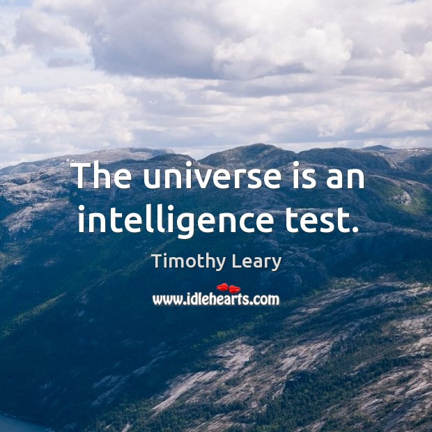 The universe is an intelligence test. Image