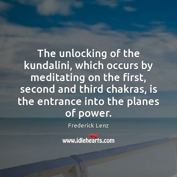 The unlocking of the kundalini, which occurs by meditating on the first, Image