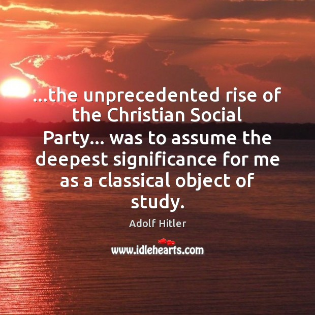 Image, …the unprecedented rise of the Christian Social Party… was to assume the