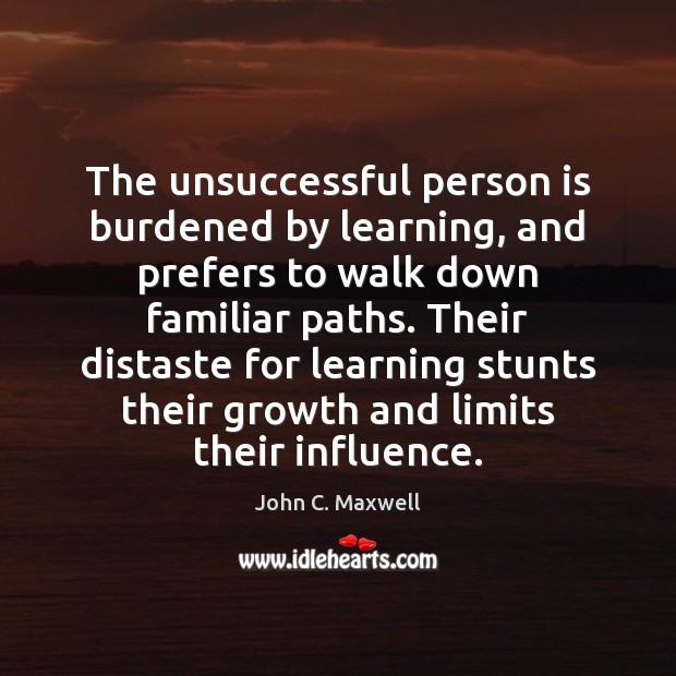 Image, The unsuccessful person is burdened by learning, and prefers to walk down