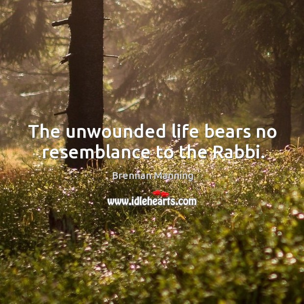 Image, The unwounded life bears no resemblance to the Rabbi.