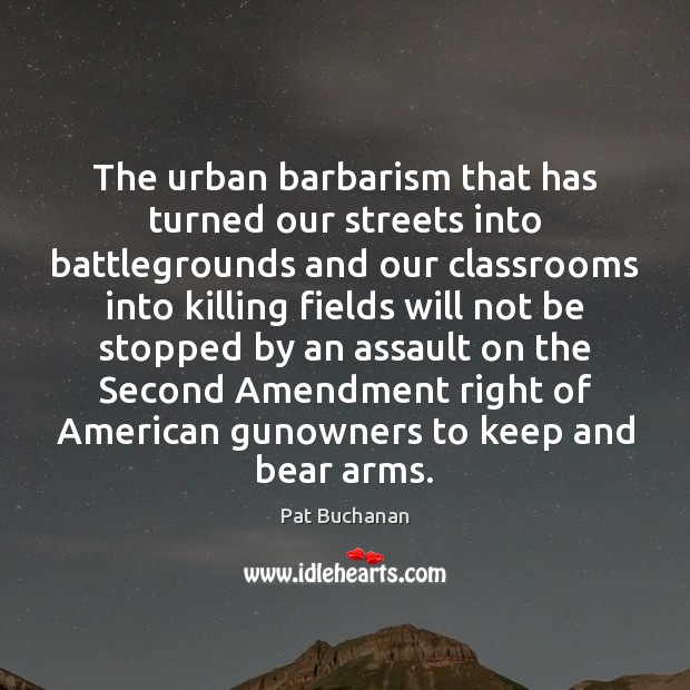Image, The urban barbarism that has turned our streets into battlegrounds and our
