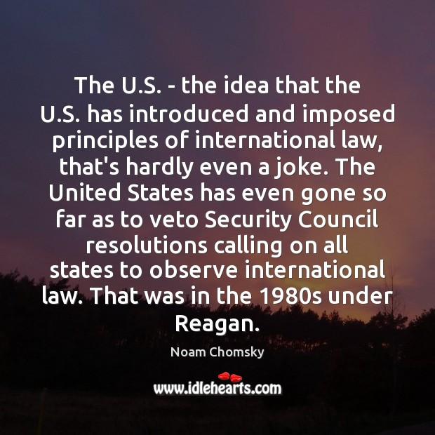 Image, The U.S. – the idea that the U.S. has introduced