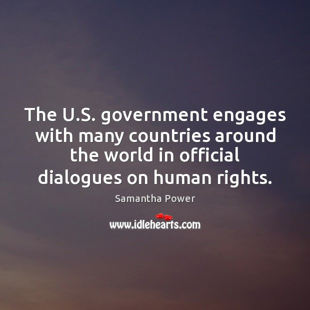 Image, The U.S. government engages with many countries around the world in