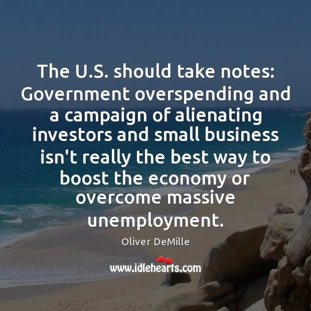 Image, The U.S. should take notes: Government overspending and a campaign of