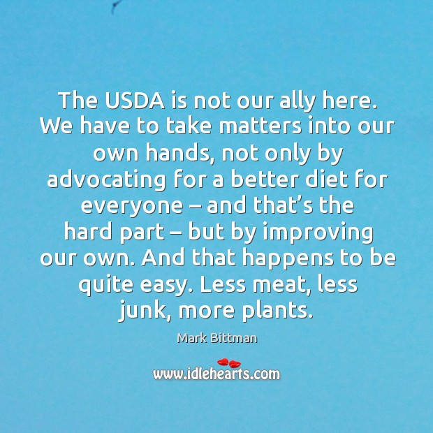 The usda is not our ally here. We have to take matters into our own hands Image