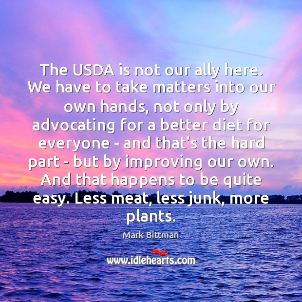Image, The USDA is not our ally here. We have to take matters