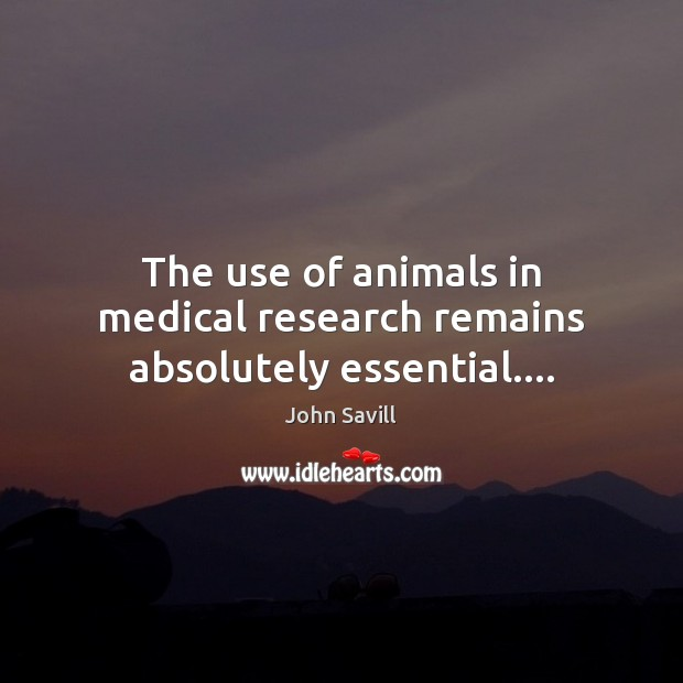 Image, The use of animals in medical research remains absolutely essential….