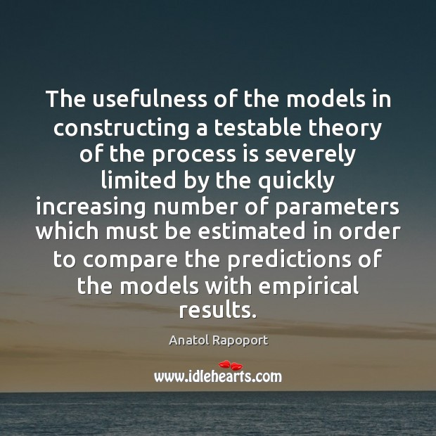 Image, The usefulness of the models in constructing a testable theory of the