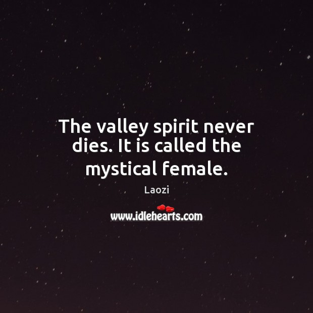 Image, The valley spirit never dies. It is called the mystical female.
