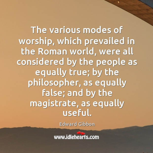 The various modes of worship, which prevailed in the roman world Image