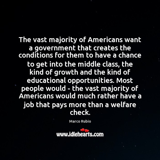 Image, The vast majority of Americans want a government that creates the conditions