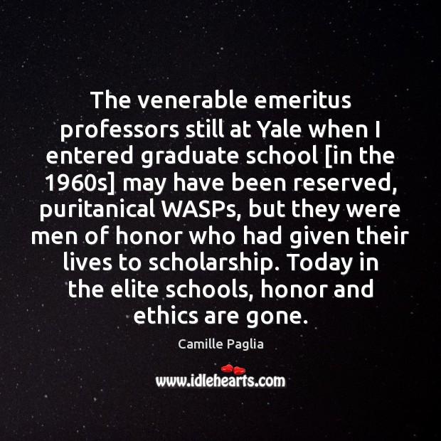 The venerable emeritus professors still at Yale when I entered graduate school [ Image