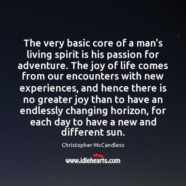 The very basic core of a man's living spirit is his passion Image