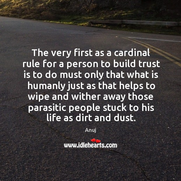 Image, The very first as a cardinal rule for a person to build