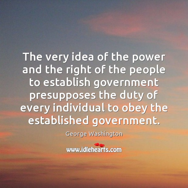 The very idea of the power and the right of the people Image