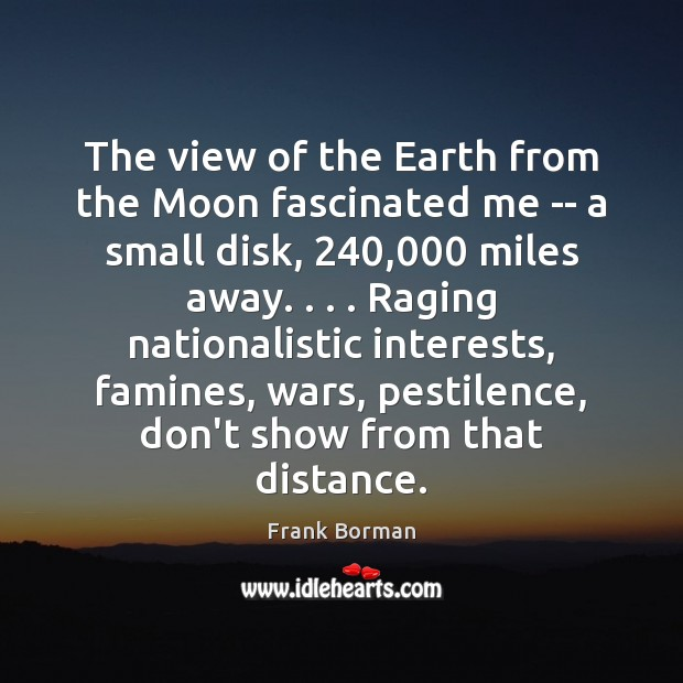 The view of the Earth from the Moon fascinated me — a Image
