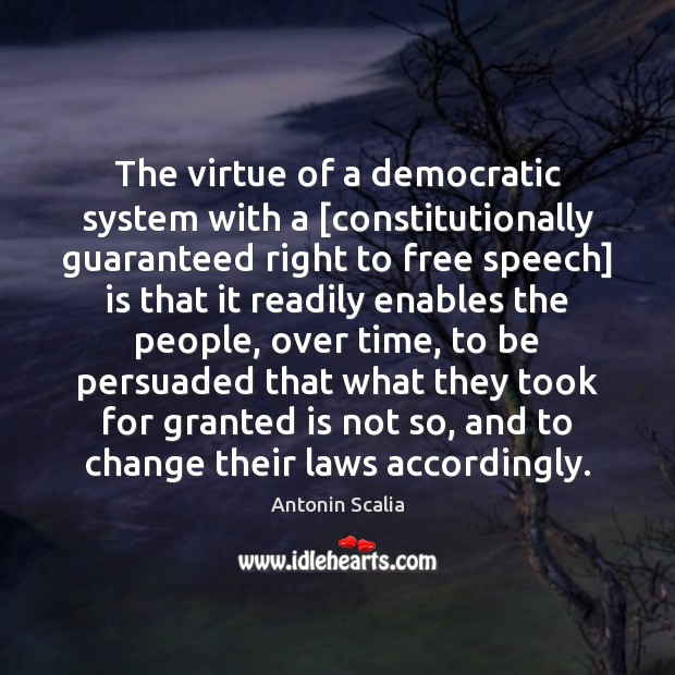 Image, The virtue of a democratic system with a [constitutionally guaranteed right to