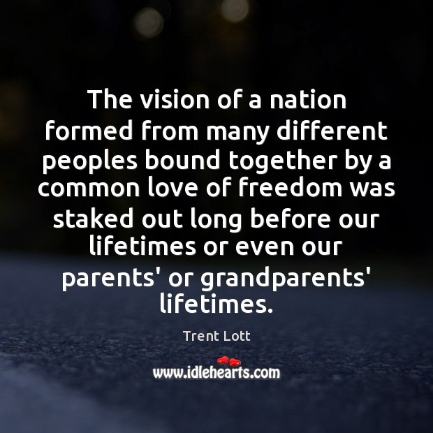 Image, The vision of a nation formed from many different peoples bound together