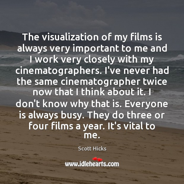 The visualization of my films is always very important to me and Image